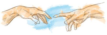 creación de adán acuarela dibujada a mano Ilustración de vector