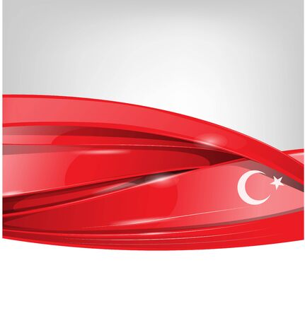 turkey background with  flag element. vector illustration Ilustracja