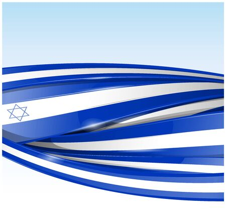 israel  flag banner. Vector background Ilustracja