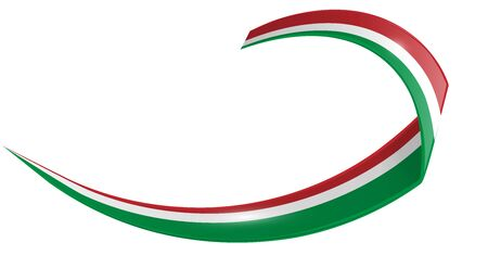 italian and mexican shape wave flag isolated on white background. vector