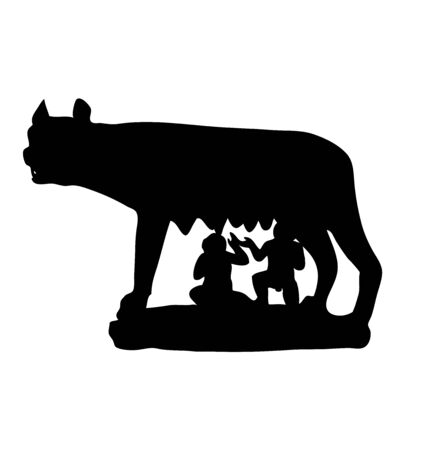 The Symbol Of Rome. Antiquity. Capitoline Wolf . vector illustration Ilustracja