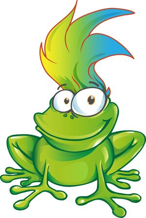 fun  frog  cartoon character mascot