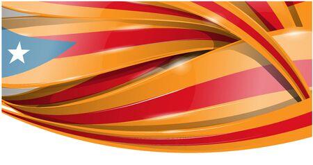catalonia banner  background flag. vector flag