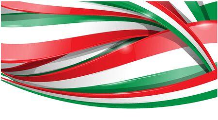Italian and mexican background flag . vector flag Vektorové ilustrace