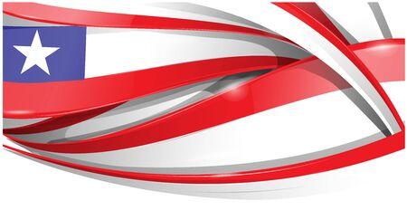 chile banner background flag. vector flag