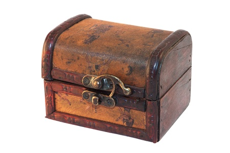 Antique treasure chest isolated on white background Stock Photo - 10905508