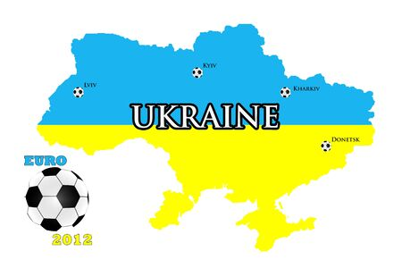 Map of Ukraine and Poland for Euro 2012 Stock Photo - 10946368
