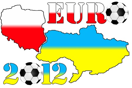 Map of Ukraine and Poland for Euro 2012 Editorial