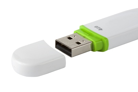 Flash Drive isolated on the white background Stock Photo - 11167443