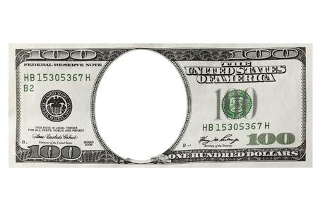 dinero falso: Cien d�lares de marco sobre el fondo blanco