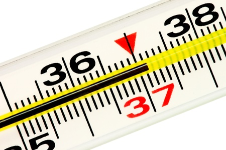 Thermometer. High 37,1 temperature of the body. Stock Photo - 11569774
