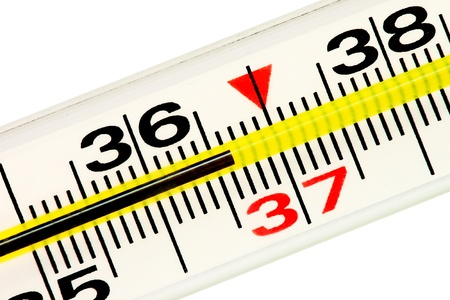 Thermometer. Normal 36,6 temperature of the body. Stock Photo - 11569773