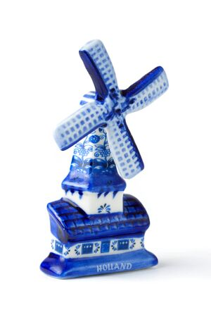 Dutch Souvenir Windmill  on the white background photo