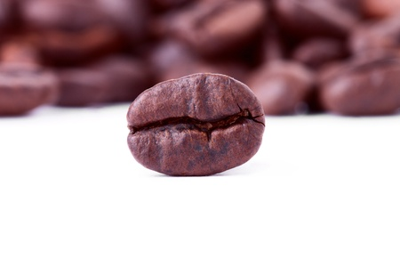 Coffee beans closeup on the white background Stock Photo - 11569829