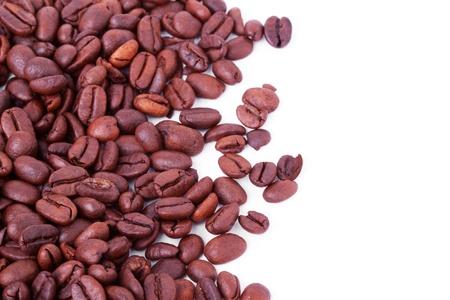 Coffee beans closeup on the white background Stock Photo - 11569832