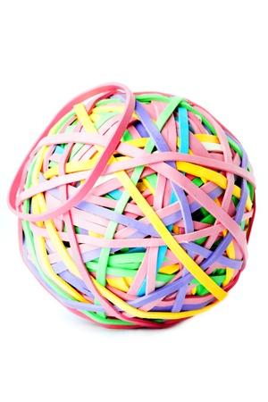 rubber ball: Rubber band ball