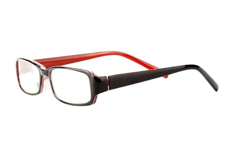 Closeup of modern glasses on the white background. Stock Photo - 11794746