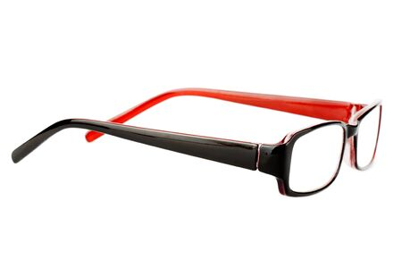 Closeup of modern glasses on the white background. Stock Photo - 11795127