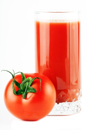 One perfect red tomatos with juice extreme closeup Stock Photo - 11878758
