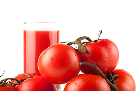 Stack of perfect red tomatos with juice extreme closeup Stock Photo - 11992021