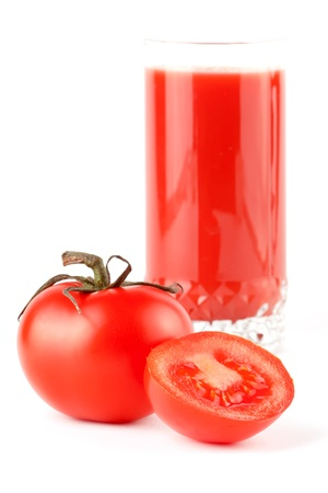 Stack of perfect red tomatoes with juice extreme closeup Stock Photo - 12019694