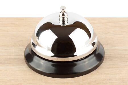 Service Desk bell on the wooden desk Stock Photo - 12043396