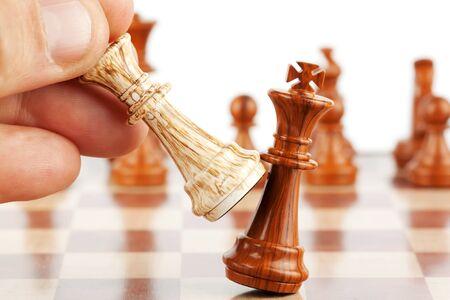 ajedrez: Formaci�n Estrat�gica de Negocios en el juego de ajedrez Foto de archivo