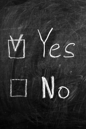 Check the box for the answer yes or no on the blackboard