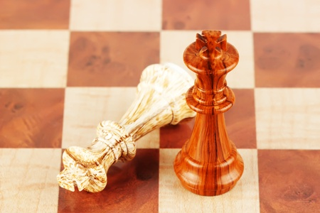 Business Strategic Formation in the chess game photo