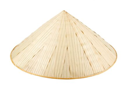 conical hat: Asian conical hat on the white background