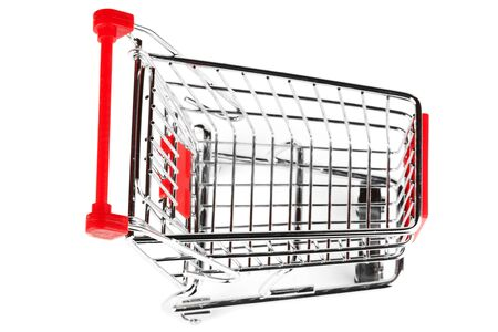 Steel Shoping Cart on the white background photo