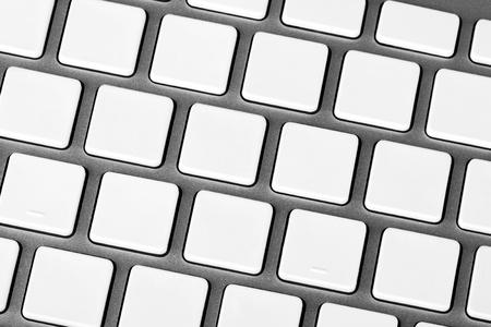 Closeup Aluminum keyboard with blank keys photo