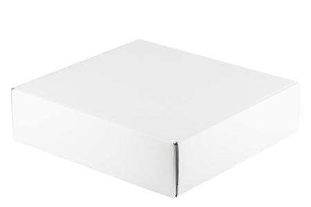 Blank white box on a white background Stock Photo - 13081444