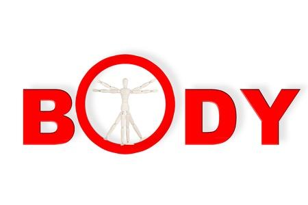 Body Concept based on Leonardo da Vinci's classic Vitruvian man Stock Photo - 13185141