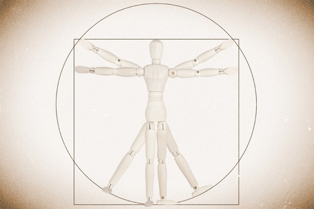 Body Concept based on Leonardo da Vinci's classic Vitruvian man Stock Photo - 13185144