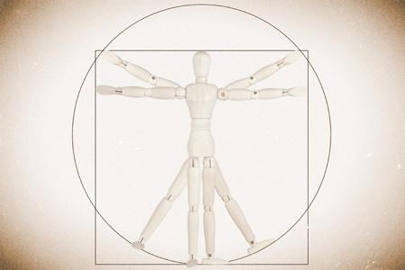 Body Concept based on Leonardo da Vinci's classic Vitruvian man Stock Photo - 13185144