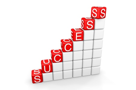 Success Ladder. Steps to success as blocks on a white background Stock Photo - 13759687