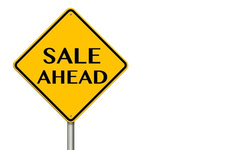 Sale Ahead sign showing business concept on a white background photo