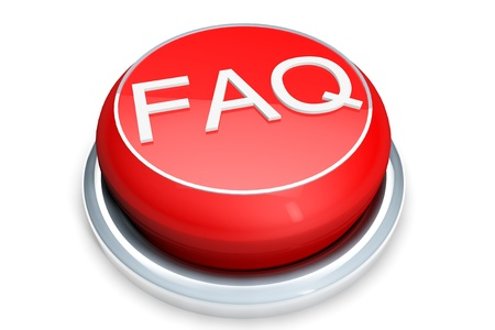 Faq Button Concept. Red Button on a white background photo