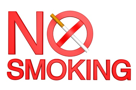 No Smoking sign on a white background photo