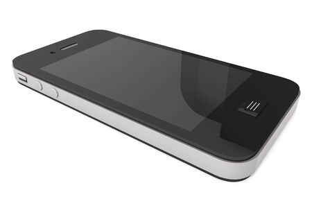cell phones: Modern Mobile phone with blank screen on a white background.