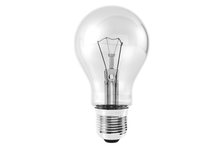 Closeup Light Bulb on a white background Stock Photo - 14698640