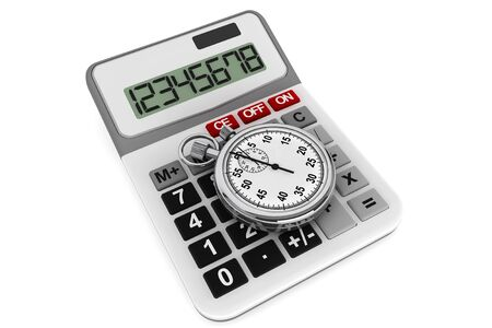 duration: Calculator and StopWatch on a white background