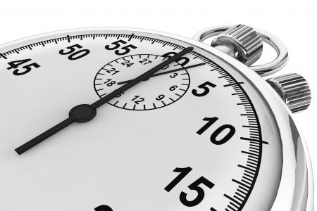 cronometro: Silver moderno Cronómetro en un fondo blanco
