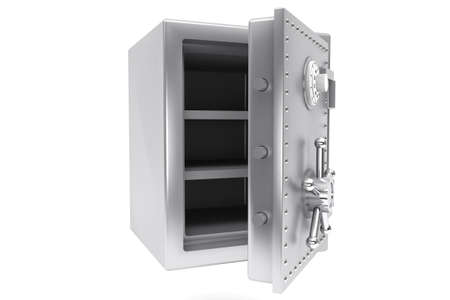 Safety concept. Steel Bank safe on a white background. Stock Photo - 15725050