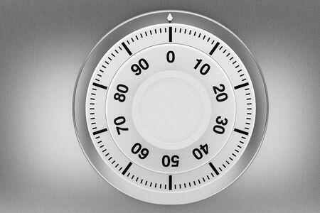Safety concept. Bank Safe combination lock closeup Stock Photo - 15725075