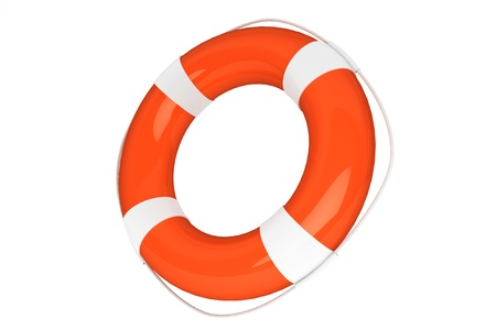 Assistance Concept. Life Buoy on a white background Stock Photo - 16061007