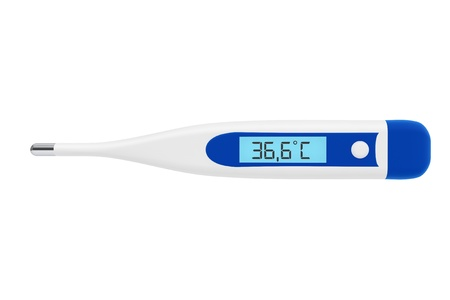 Health Care concept. Medical digital thermometer on a white background Stock Photo - 16060971