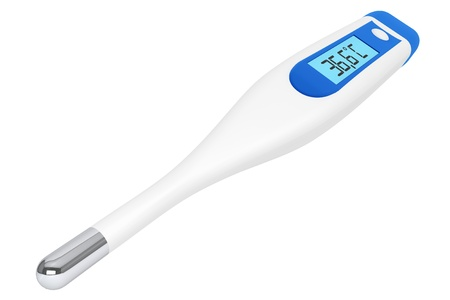Health Care concept. Medical digital thermometer on a white background Stock Photo - 16060980