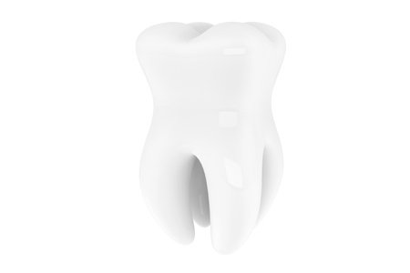 Stomatology concept. Extreme closeup tooth on a white background Stock Photo - 16060976